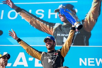 Jean-Eric Vergne, DS TECHEETAH celebrates on the podium