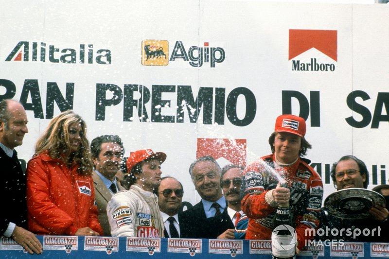 1. Didier Pironi, Ferrari; 2. Gilles Villeneuve, Ferrari