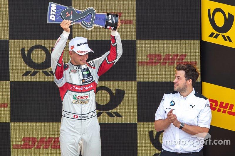 Podium: derde plaats Nico Müller, Audi Sport Team Abt Sportsline