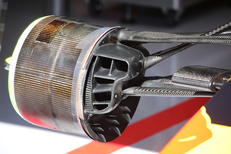 Tambor de freio dianteiro da Red Bull Racing RB15