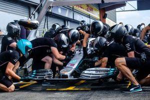 Mercedes AMG F1, práctica de pit stop