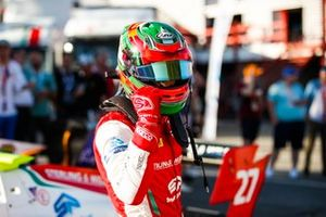 Jehan Daruvala.PREMA Racing, celebrates taking pole position