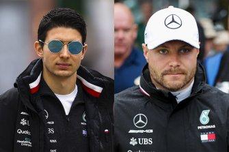 Тест-пилот и резервный гонщик Эстебан Окон, призовой пилот Mercedes AMG F1 Валттери Боттас