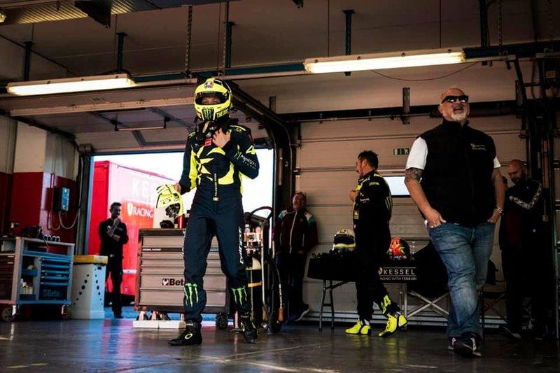 Valentino Rossi testet den Ferrari 488 GT3 von Kessel Racing in Misano