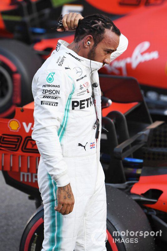 Lewis Hamilton, Mercedes AMG F1, after Qualifying
