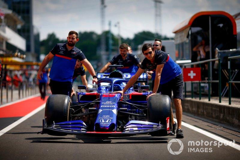 El coche de Daniil Kvyat, Toro Rosso STR14