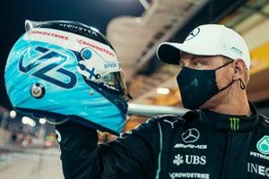 Valtteri Bottas, Mercedes with his helmet