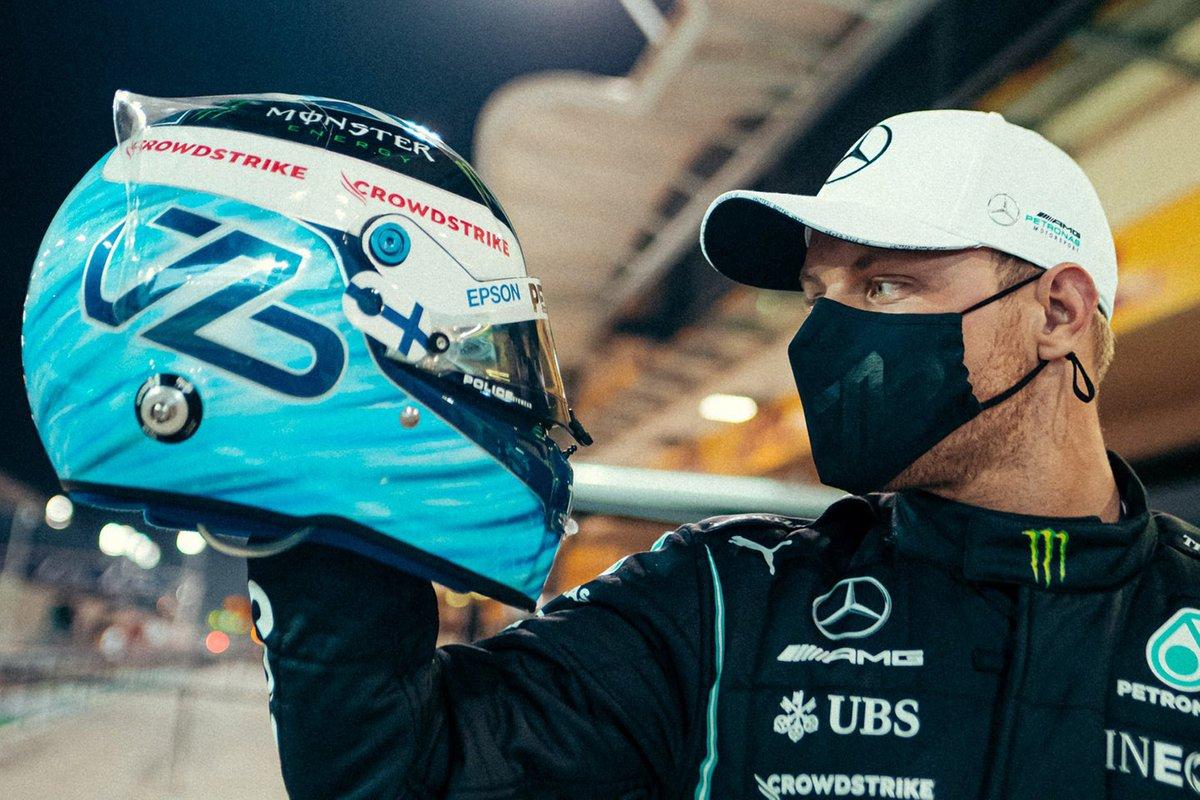 Валттери Боттас, Mercedes, со своим шлемом