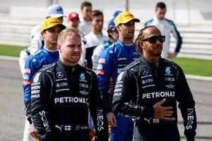 Valtteri Bottas, Mercedes and Lewis Hamilton, Mercedes