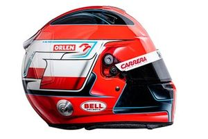 Helmet of Robert Kubica, Alfa Romeo Racing