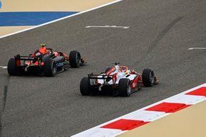 Felipe Drugovich, MP Motorsport battles with Mick Schumacher, Prema Racing