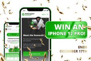 Motorsport Rewards iPhone 12 Pro prize