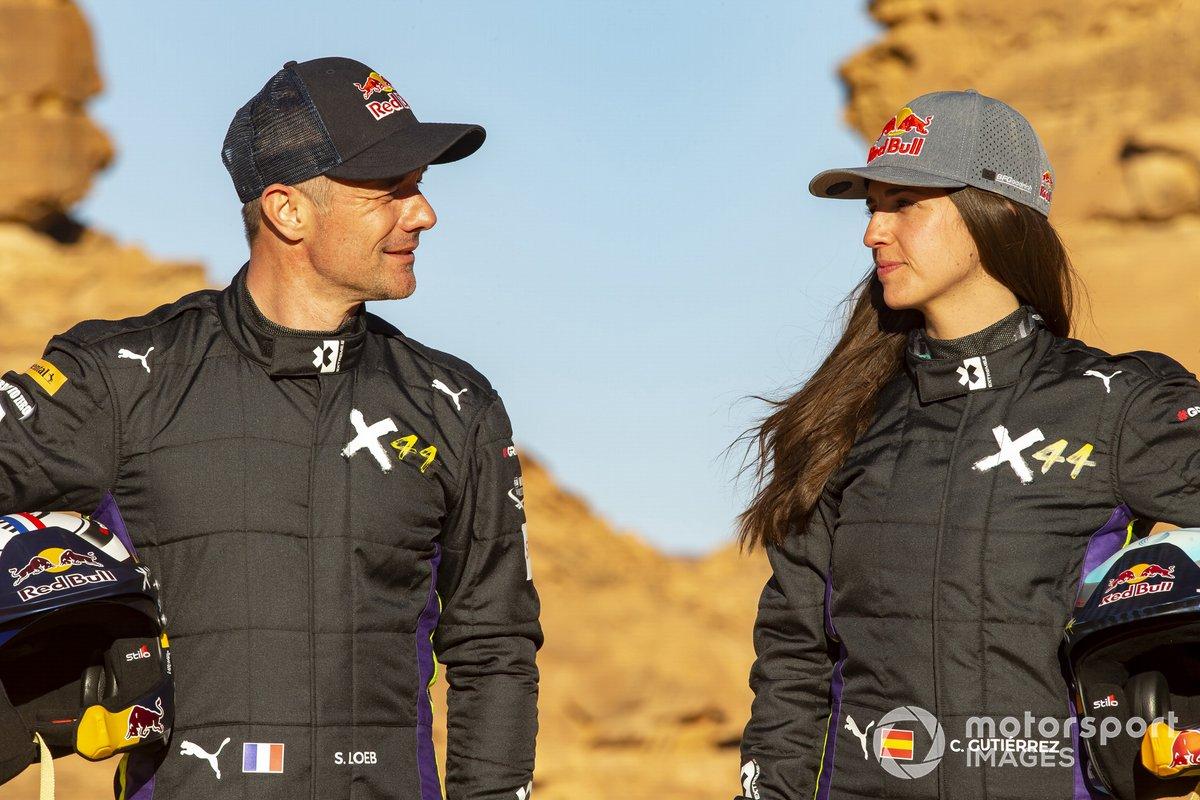 Sebastien Loeb, X44 y Cristina Gutierrez, X44