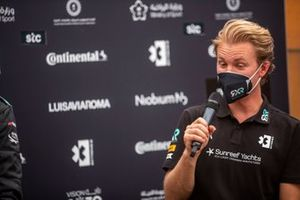 Nico Rosberg, fundador y director general de Rosberg X Racing, en la rueda de prensa