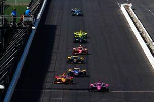 Alexander Rossi, Andretti Autosport Honda, Ryan Hunter-Reay, Andretti Autosport Honda, Jack Harvey, Meyer Shank Racing Honda