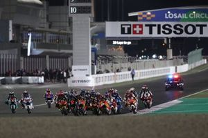 Start action, Marco Bezzecchi, Sky Racing Team VR46 leads