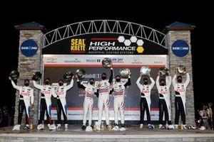 Podium GTLM: 79 WeatherTech Racing Porsche 911 RSR - 19, GTLM: Cooper MacNeil, Richard Lietz, Matt Campbell, #25: BMW Team RLL BMW M8 GTE, GTLM: Connor De Phillippi, Philipp Eng, Bruno Spengler, #24: BMW Team RLL BMW M8 GTE, GTLM: John Edwards, Jesse Krohn, Augusto Farfus