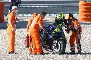Valentino Rossi, Yamaha Factory Racing after crash