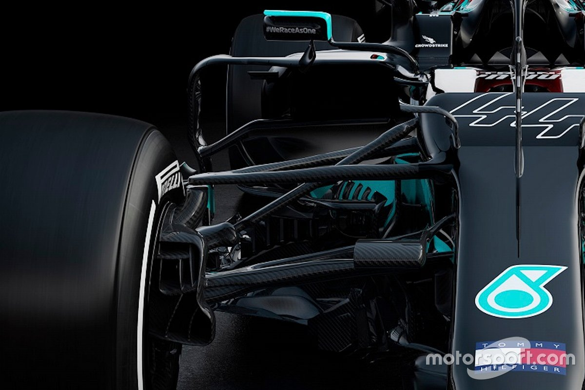 Suspension avant de la Mercedes AMG F1 W12