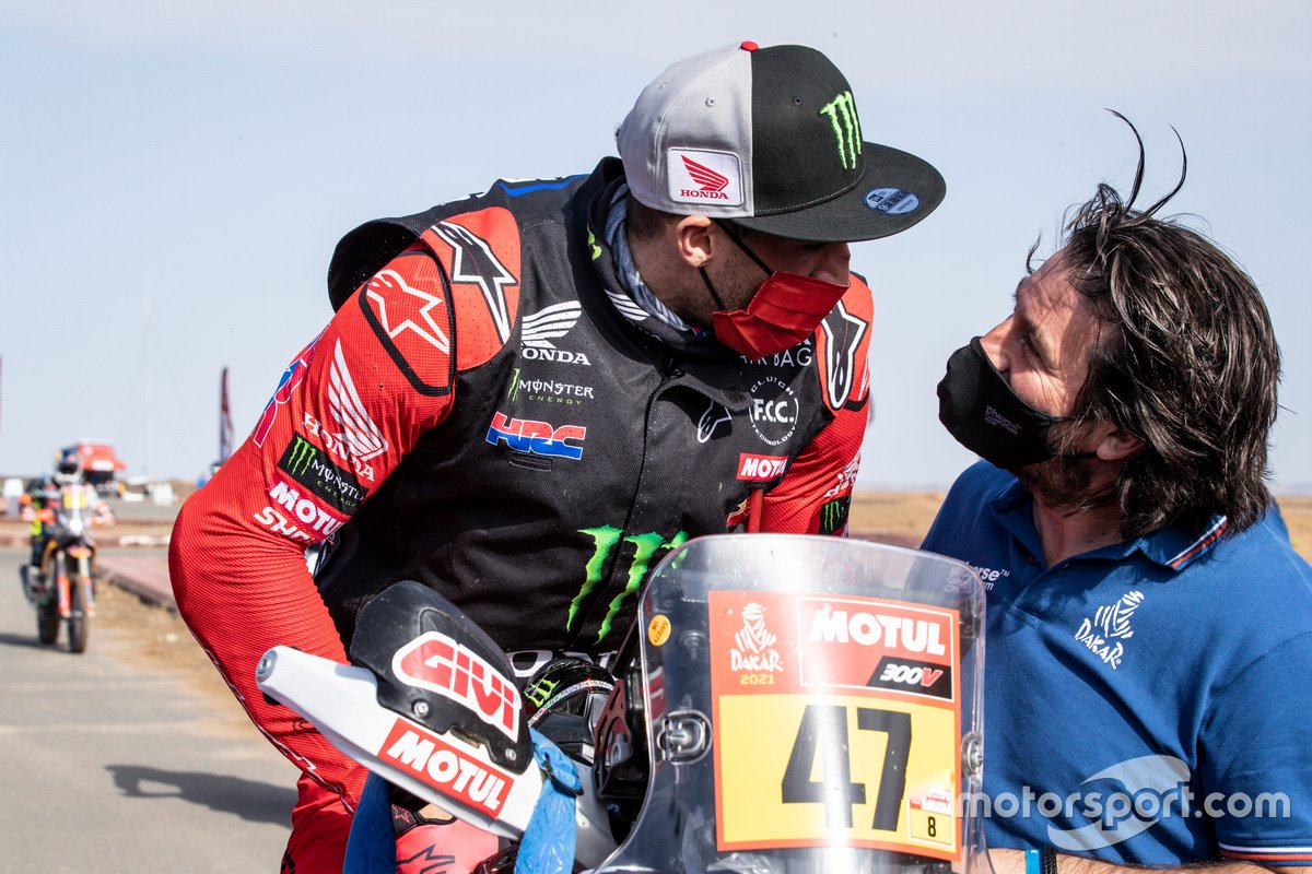 #47 Monster Energy Honda Team: Kevin Benavides e David Castera, Direttore del Dakar Rally