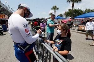 Graham Rahal, Rahal Letterman Lanigan Racing Honda, fans