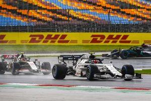 Pierre Gasly, AlphaTauri AT01, Kevin Magnussen, Haas VF-20, and Valtteri Bottas, Mercedes F1 W11