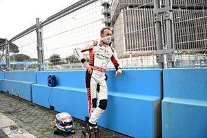 Rene Rast, Audi Sport ABT Schaeffler, looks on after crashing out