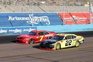 Justin Allgaier, JR Motorsports, Chevrolet Camaro BRANDT, Austin Cindric, Team Penske, Ford Mustang Menards/Richmond
