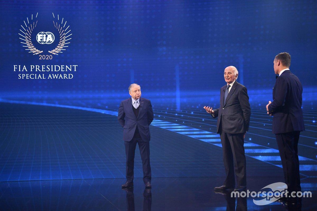 Jean Todt, presidente de la FIA, Gérard Saillant, Tom Kristensen