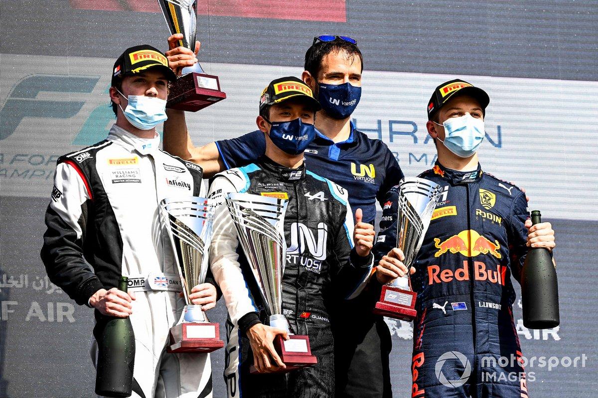 Dan Ticktum, Carlin, Guanyu Zhou, Uni-Virtuosi Racing y Liam Lawson, Hitech Grand Prix