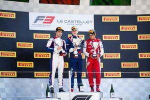 Robert Shwartzman, PREMA Racing and Pedro Piquet, Trident and Jehan Daruvala, PREMA Racing