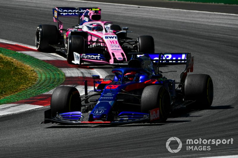 Даниил Квят, Scuderia Toro Rosso STR14, и Лэнс Стролл, Racing Point F1 Team RP19