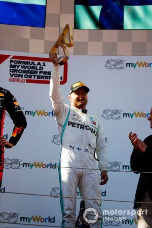 Valtteri Bottas, Mercedes AMG F1, sur le podium