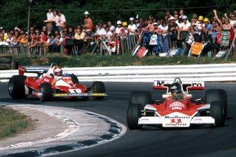 Niki Lauda, Ferrari et James Hunt, McLaren