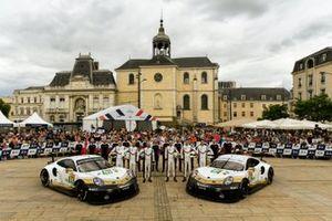 #91 Porsche GT Team Porsche 911 RSR: Richard Lietz, Gianmaria Bruni, Frédéric Makowiecki; #92 Porsche GT Team Porsche 911 RSR: Michael Christensen, Kevin Estre, Laurens Vanthoor