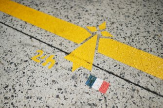 Pitlane markings in the design of Brittany, France