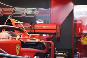 Dettaglio ala posteriore Ferrari SF90