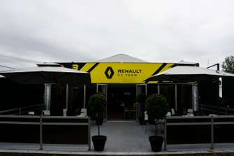 The Renault team's hospitality building
