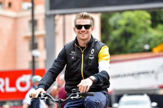 Nico Hulkenberg, Renault F1 Team on a bike