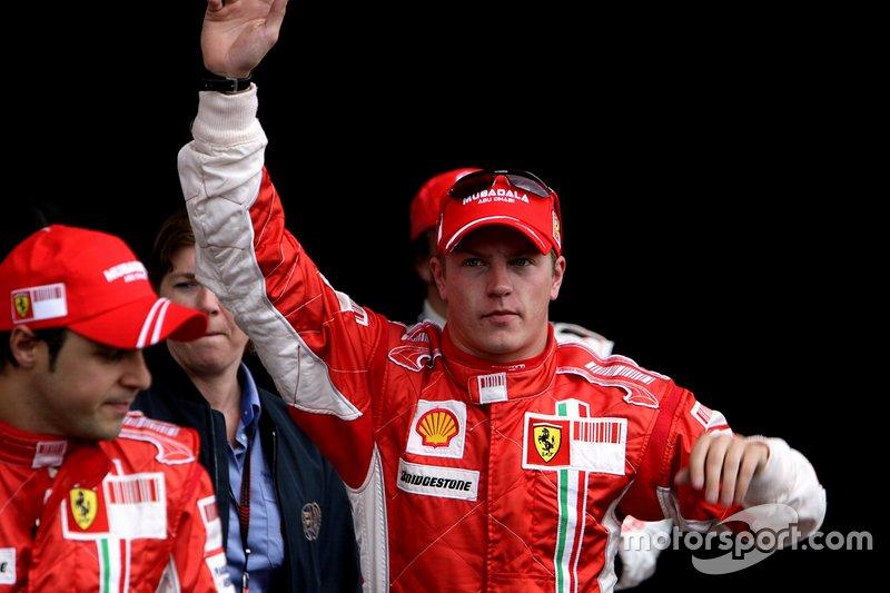 Polesitter Kimi Räikkönen, Ferrari