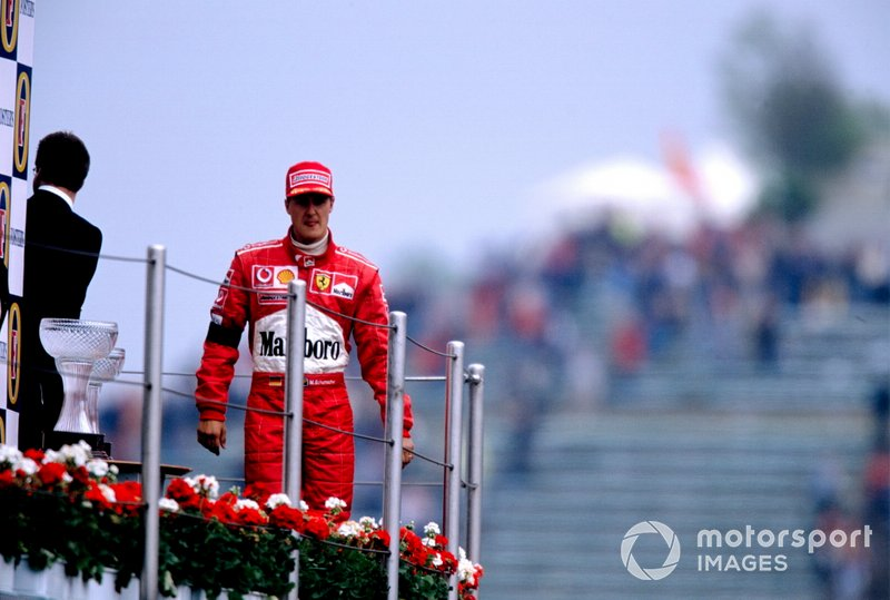 Race winner Michael Schumacher, Ferrari F2002