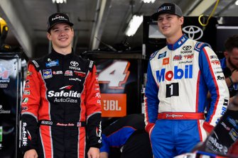 Todd Gilliland, Kyle Busch Motorsports, Toyota Tundra Mobil 1 and Harrison Burton, Kyle Busch Motorsports, Toyota Tundra Safelite AutoGlass