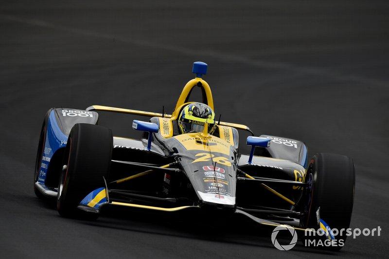 28º: #26 Zach Veach, Gainbridge, Andretti Autosport Honda: 227.341 mph