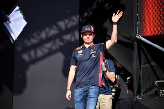 Max Verstappen, Red Bull Racing on stage at the Fan Zone
