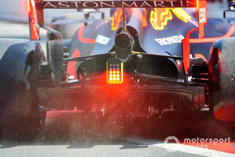 La parte trasera del Red Bull Racing RB15