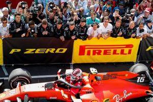 El tercer lugar Charles Leclerc, Ferrari