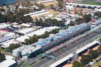 The grid as seen from above prior to the start
