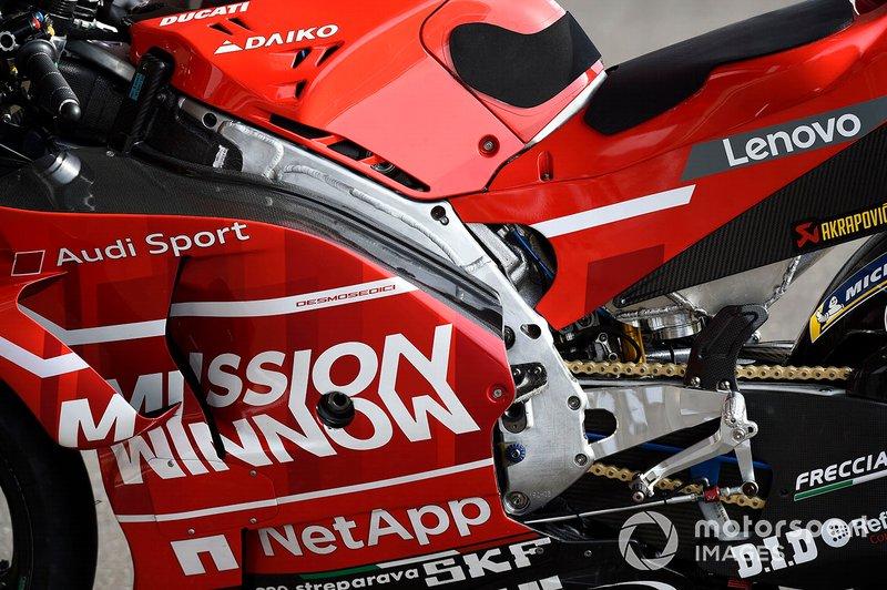 Ducati Team, dettaglio del telaio