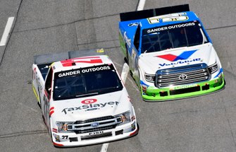 Myatt Snider, ThorSport Racing, Ford F-150 TaxSlayer and David Gilliland, DGR-Crosley, Toyota Tundra Fred's