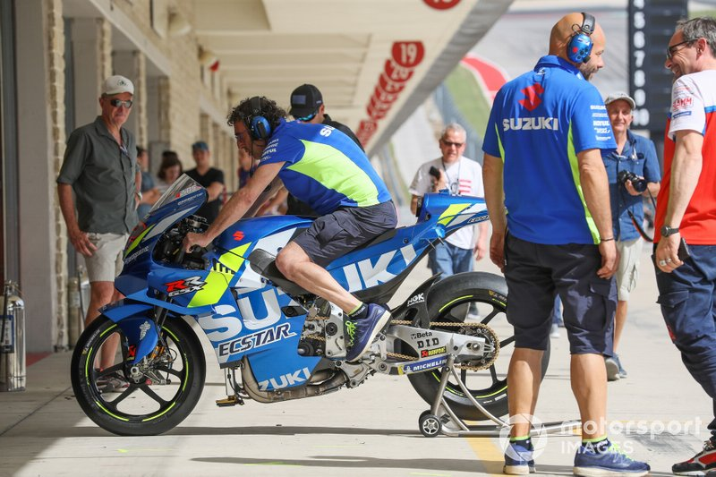 La moto di Alex Rins, Team Suzuki MotoGP
